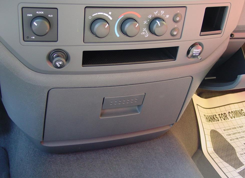 dodge ram center dash
