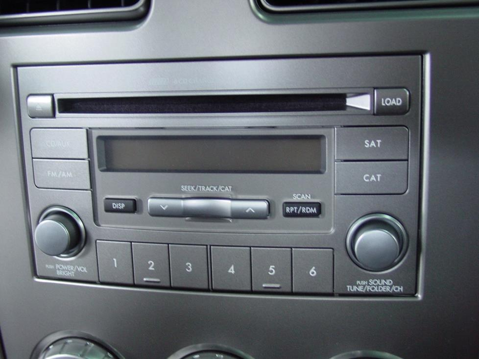 subaru forester cd changer