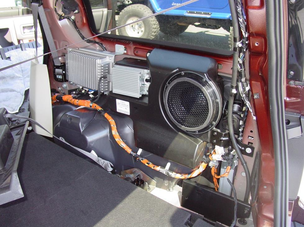 ford flex rear subwoofer