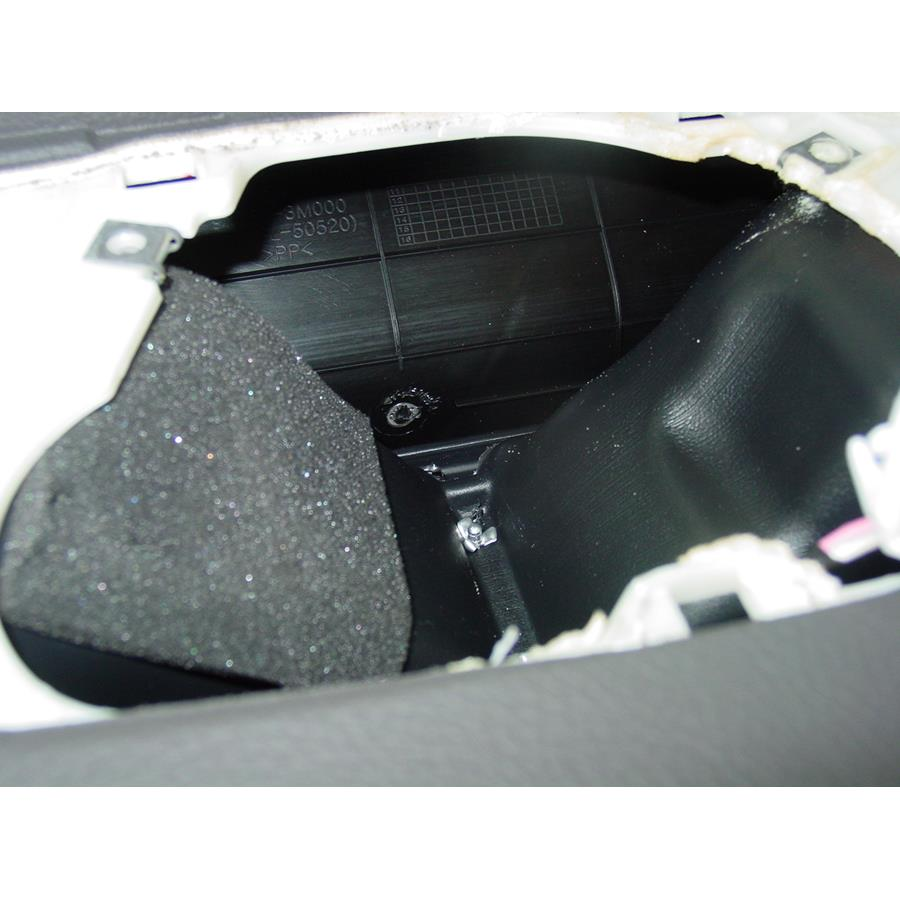 2010 Hyundai Genesis Center dash speaker removed