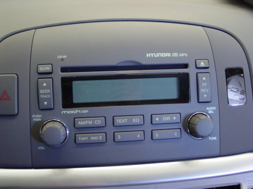 hyundai sonata base radio
