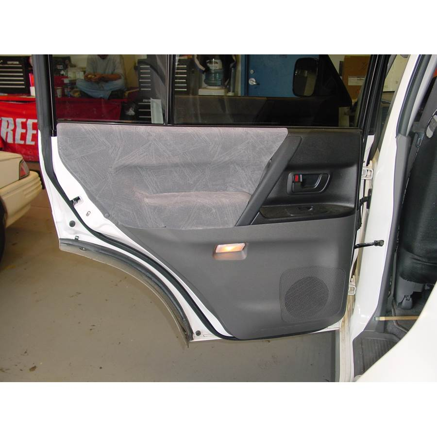 2004 Mitsubishi Montero Rear door speaker location