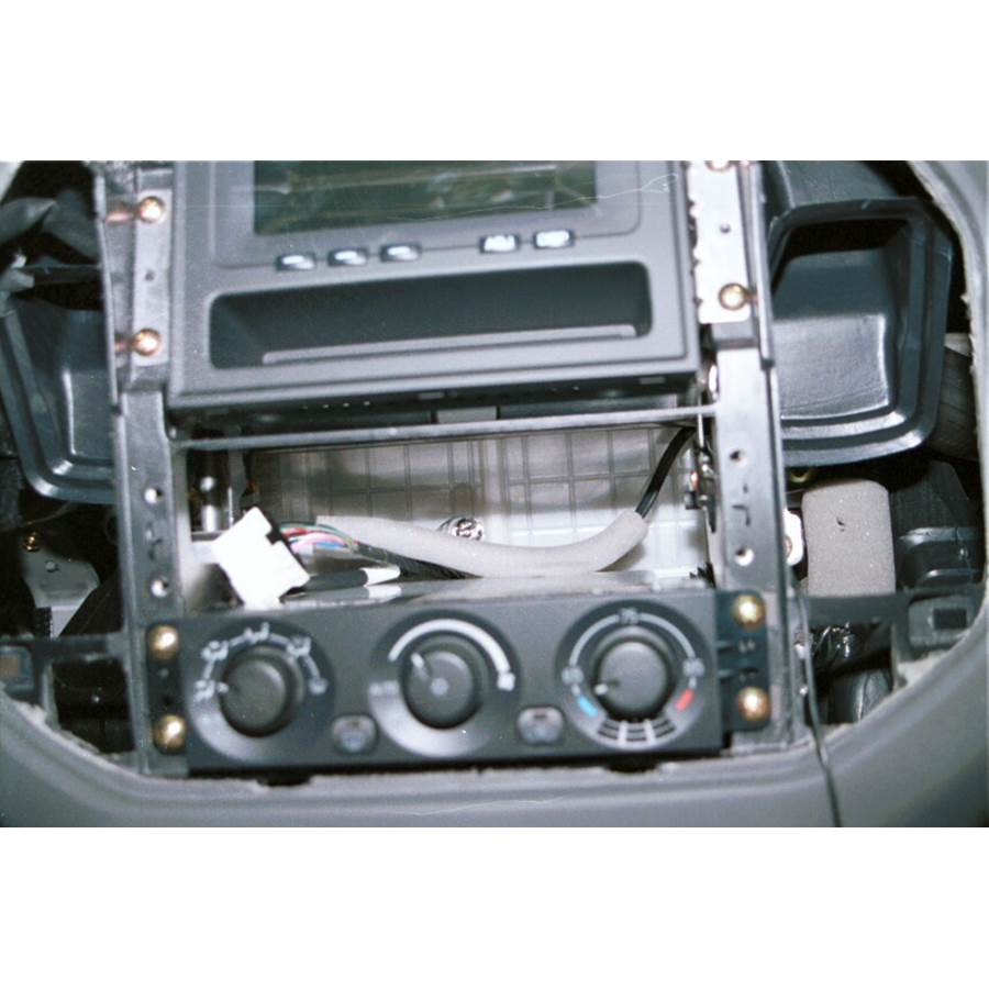 2005 Mitsubishi Montero Factory radio removed