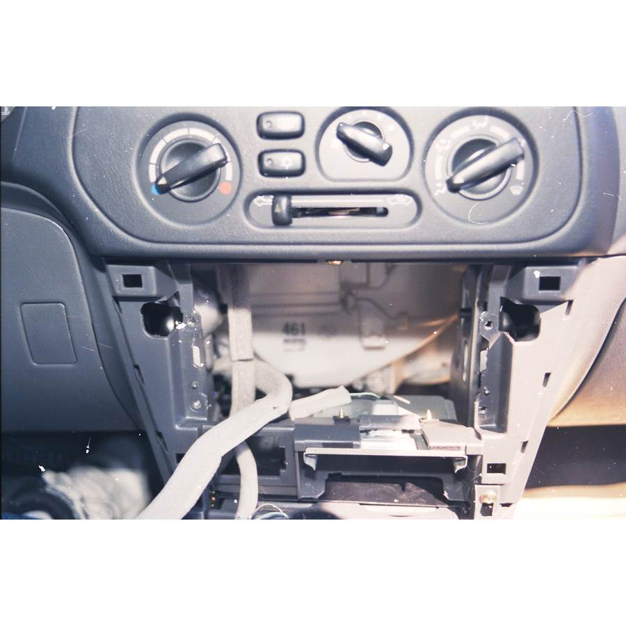 1997 Mitsubishi Mirage Factory radio removed