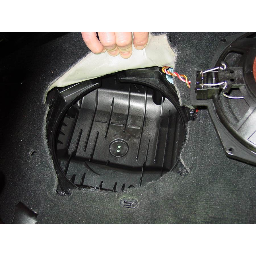 2010 BMW M3 Under front seat speaker removed