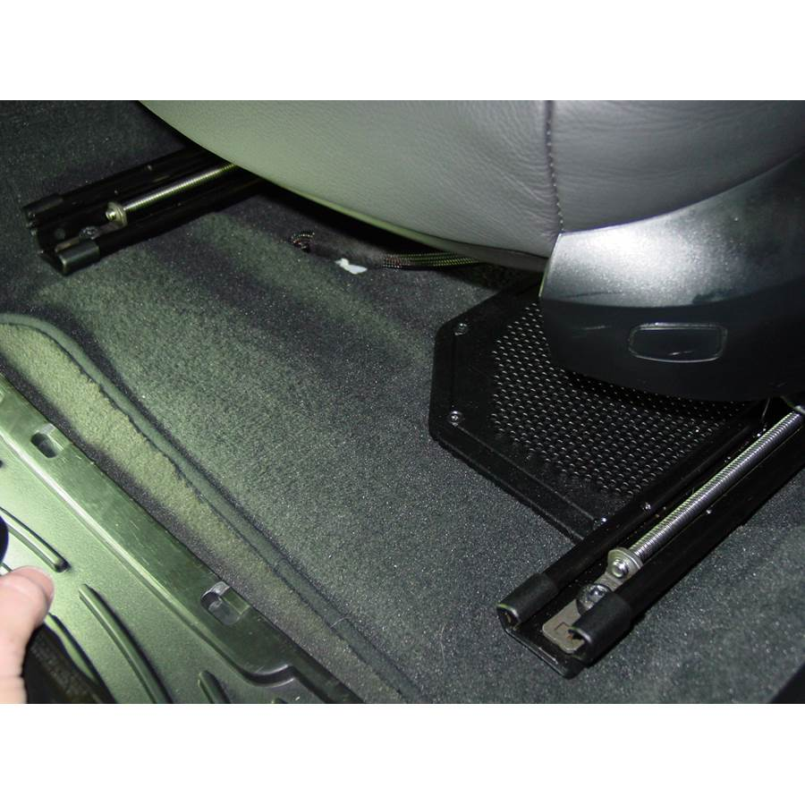2010 BMW M3 Under front seat speaker location