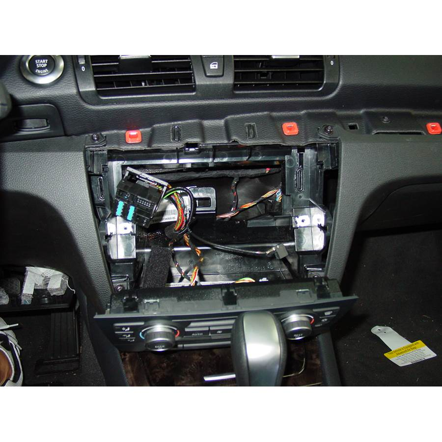 2011 BMW 1 Series Factory radio removed