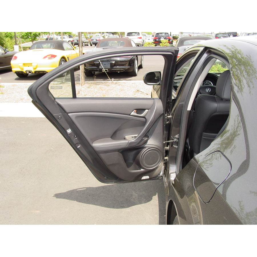 2010 Acura TSX Rear door speaker location