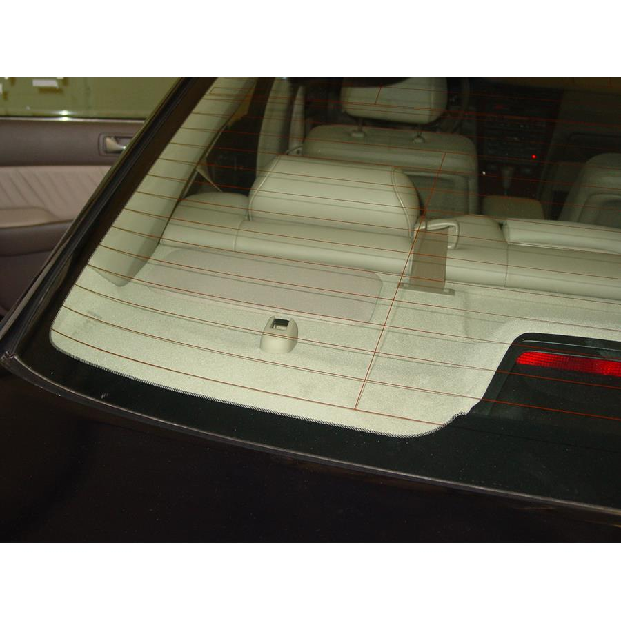 2004 Acura 3.5RL Rear deck speaker location