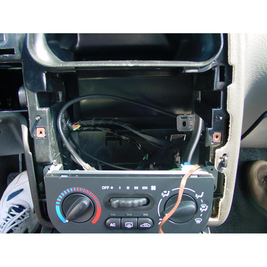 2002 Saturn SC1 Factory radio removed