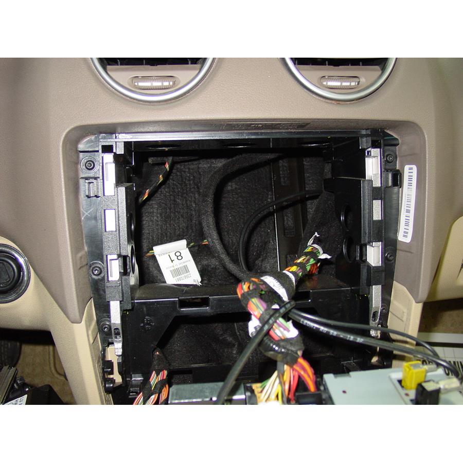 2011 Mercedes-Benz ML63 Factory radio removed