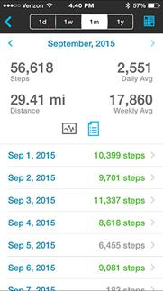 Garmin vivofit 2 steps summary screen