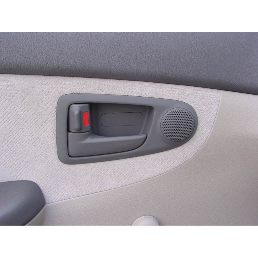 2006 Kia Spectra5 Front door tweeter location