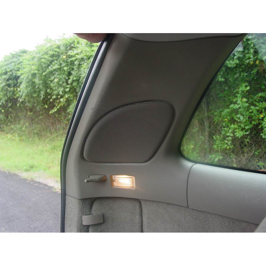 2001 Volvo V40 Rear pillar speaker location