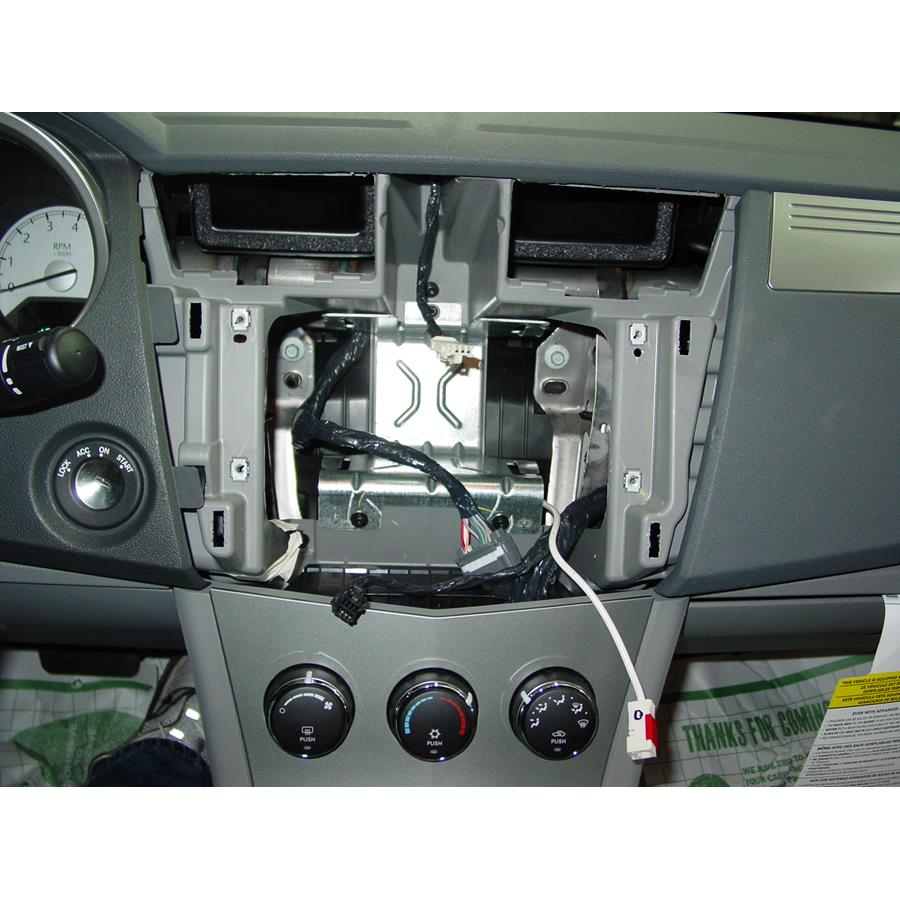 2010 Chrysler Sebring Factory radio removed