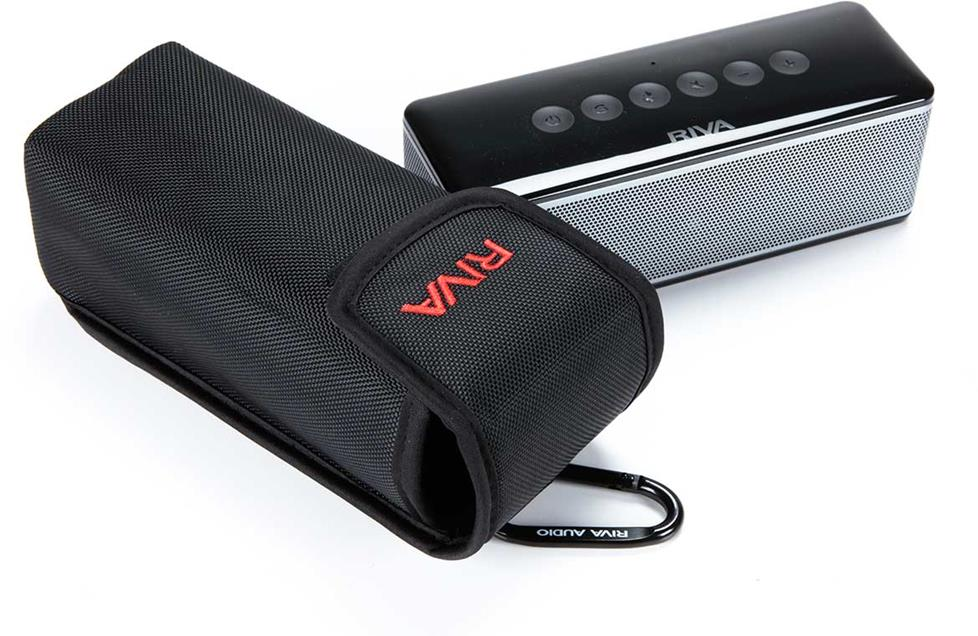 RIVA S portable Bluetooth speaker with case