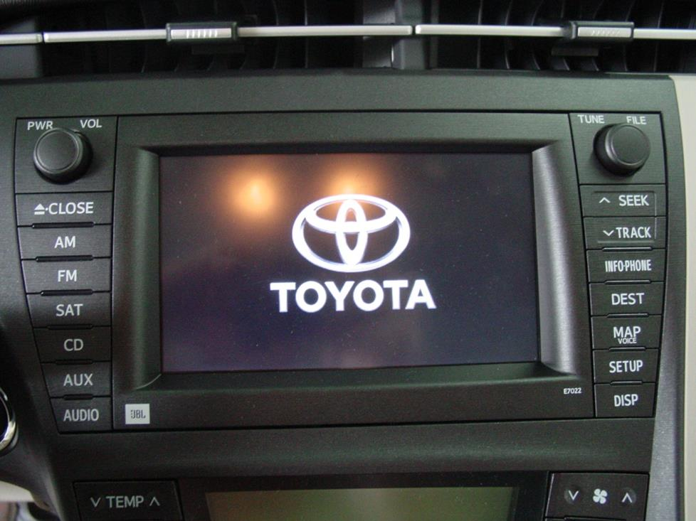 toyota prius navigarion receiver