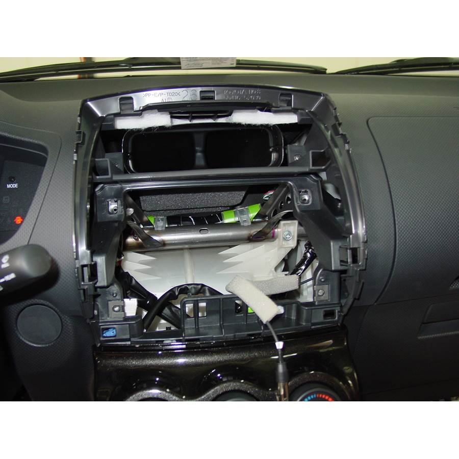 2008 Scion xD Factory radio removed