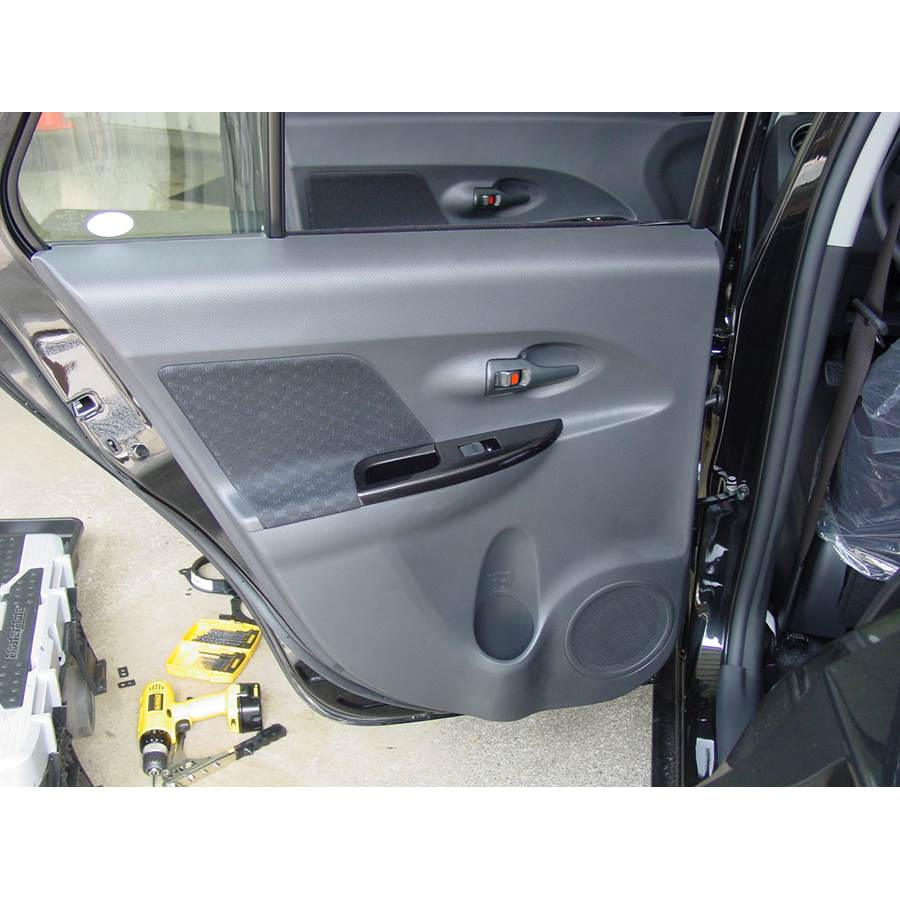 2008 Scion xD Rear door speaker location