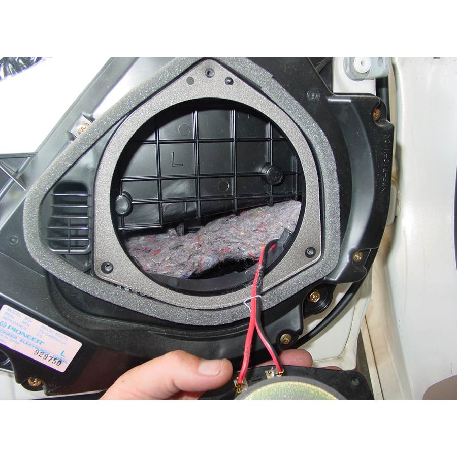 1998 Lexus LX470 Rear door speaker removed