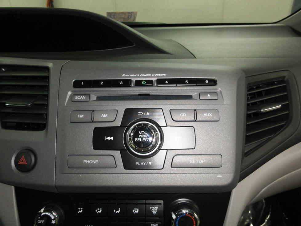 2012 honda civic radio