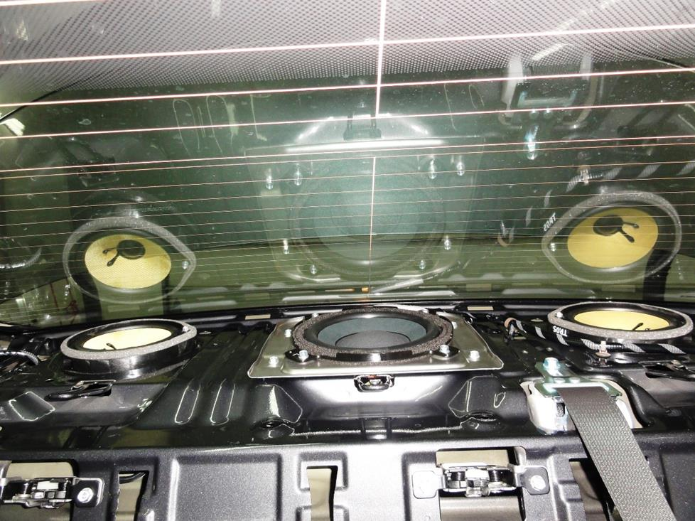 honda civic rear deck subwoofer