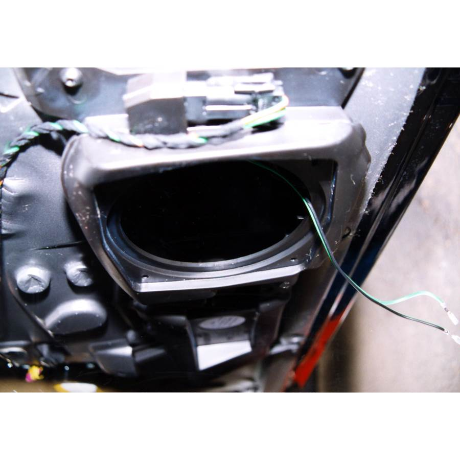 2002 Porsche Boxster Front speaker removed