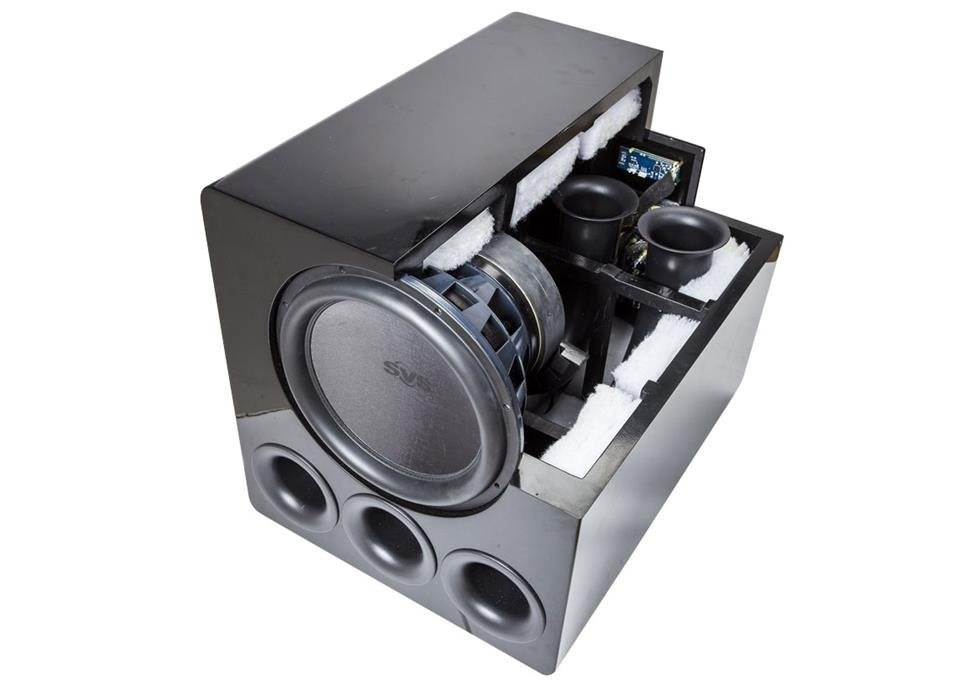 Cutaway of the SVS PB13-Ultra subwoofer.