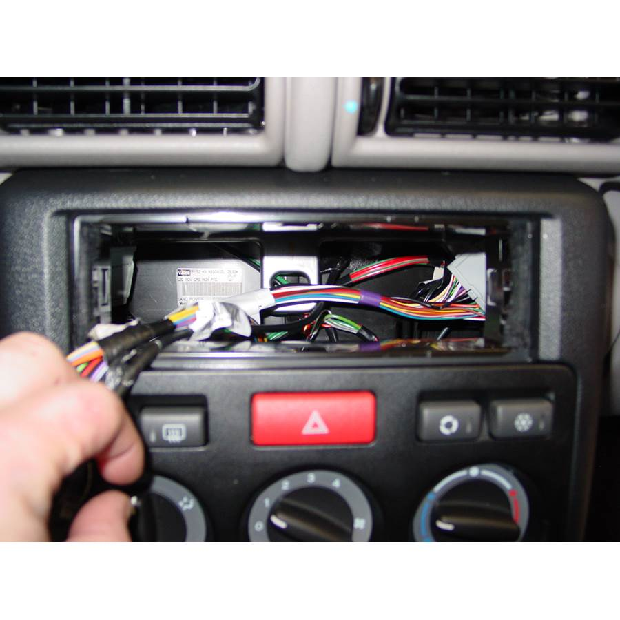 2002 Land Rover Freelander Factory radio removed