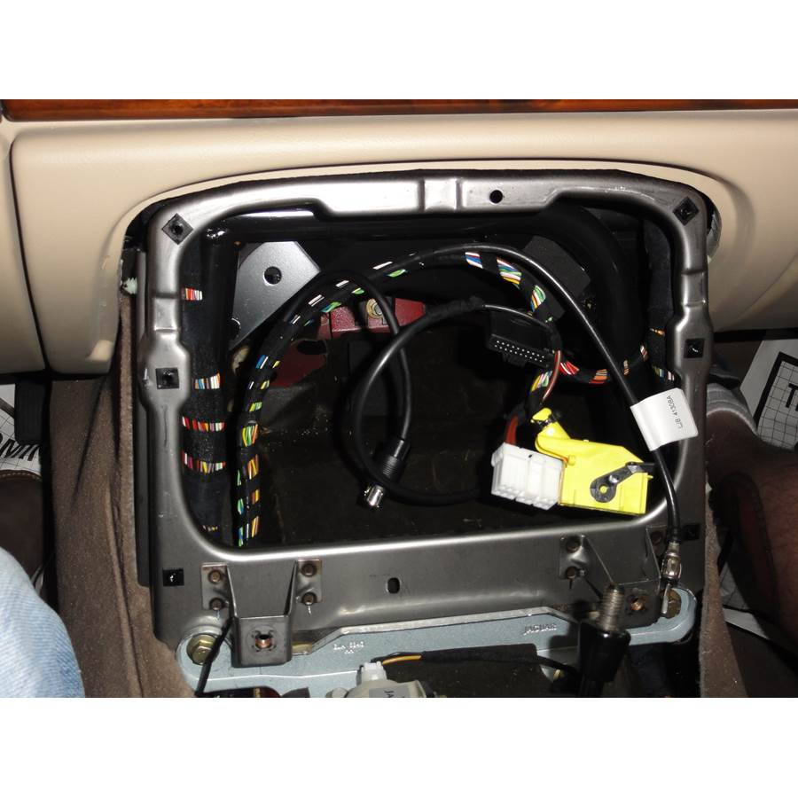 2001 Jaguar XK8 Factory radio removed