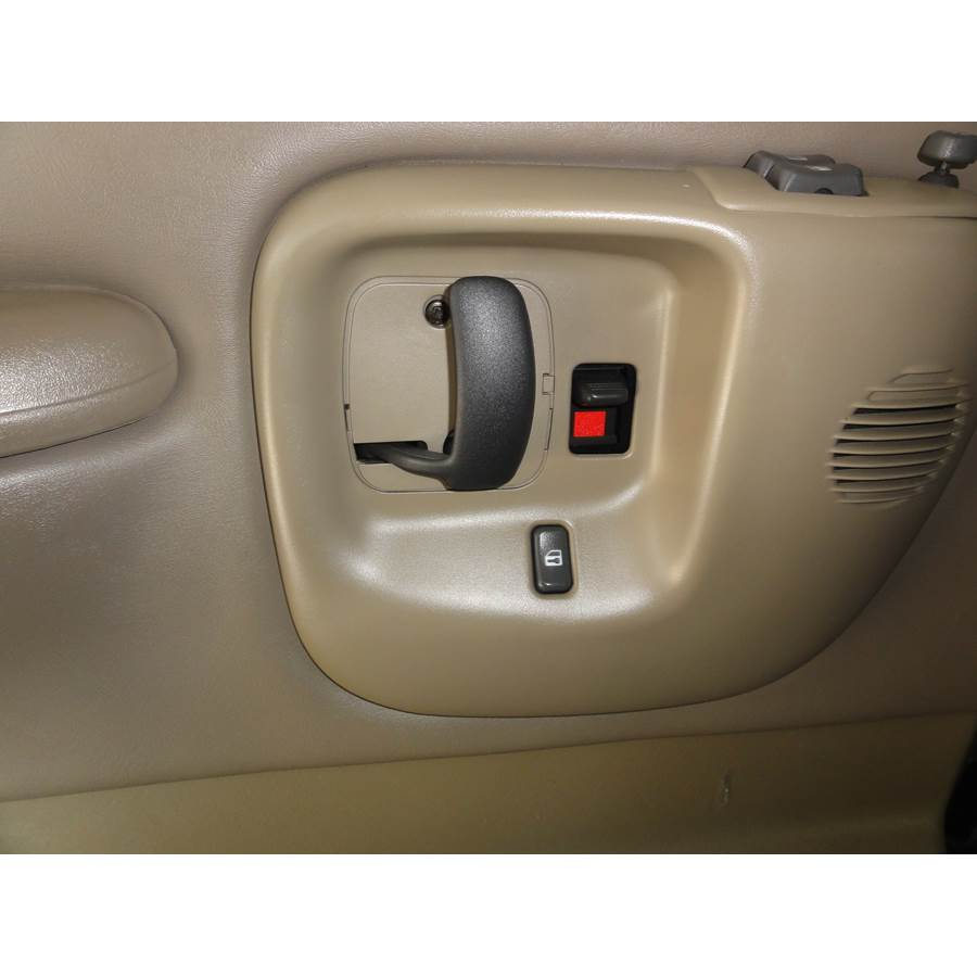 2001 Chevrolet Express Front door tweeter location