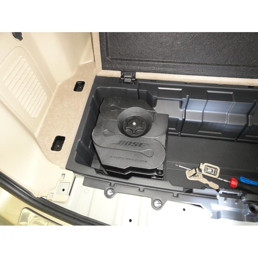 2017 Nissan Pathfinder Under cargo floor speaker location