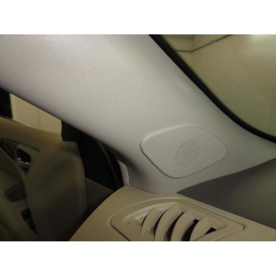 2017 Nissan Pathfinder Front pillar speaker location
