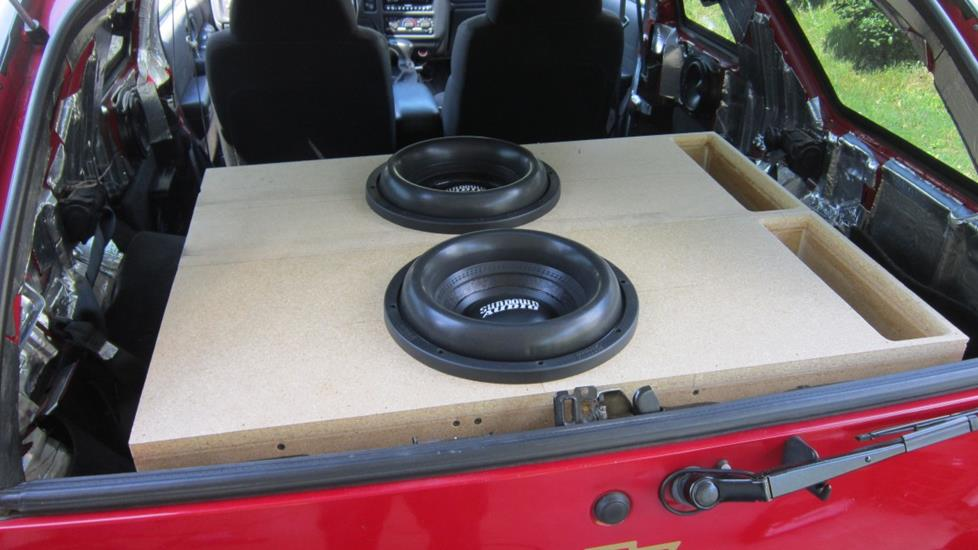 "Thomas Y's 2004 Chevrolet Blazer with two 12"" subs in custom enclosures"