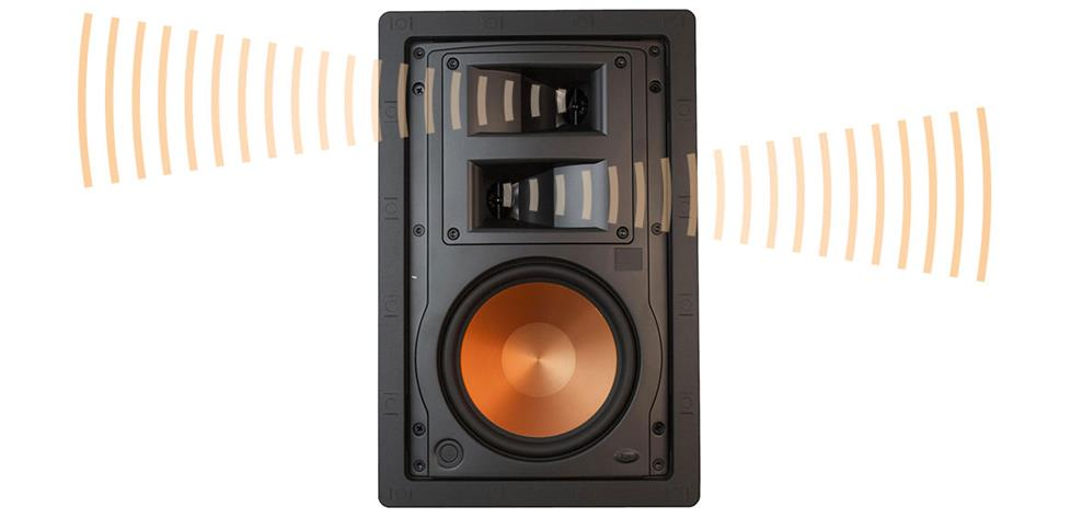 Image of a speaker with off-axis tweeters.