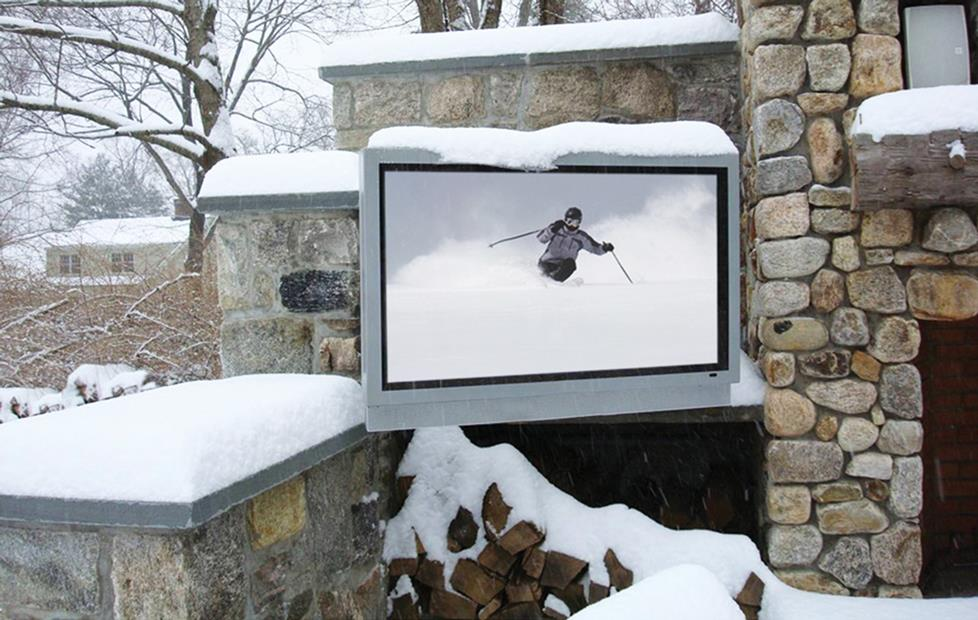 Sunbrite TV in snow