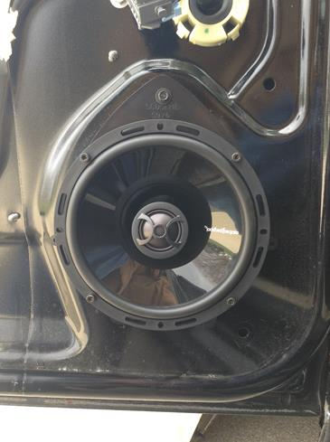 "Brendan B's 2007 Chevrolet Impala with Rockford Fosgate Punch P16 2-way 6-1/2"" speaker in front door"