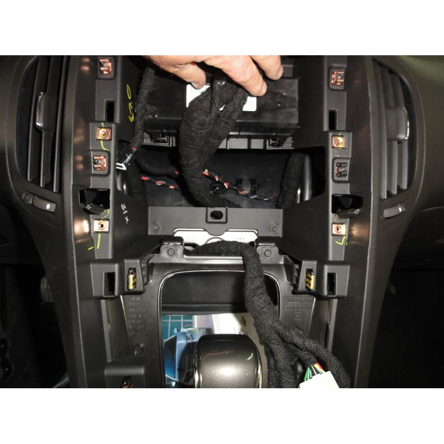 2012 Chevrolet Volt Factory radio removed