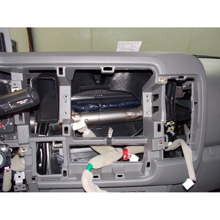 2013 Nissan NV Cargo Factory radio removed