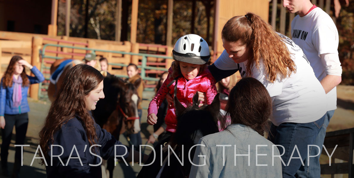 Tara volunteers with Charlottesville Area Riding Therapy