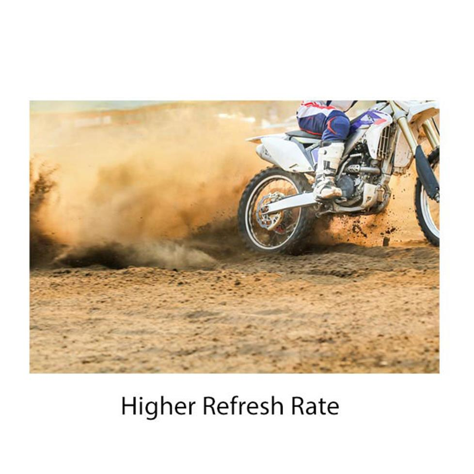Higher refresh rate graphic