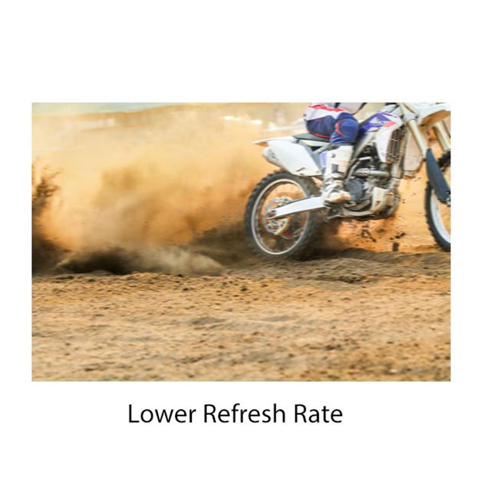 Lower refresh rate - motion blur graphic