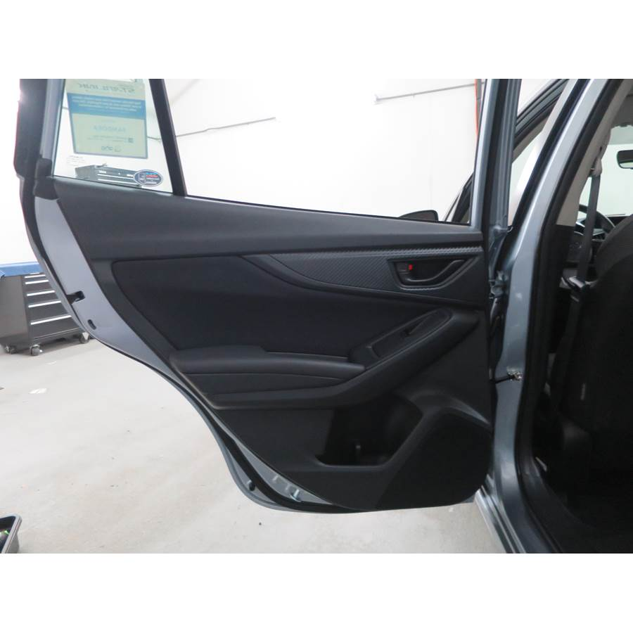 2018 Subaru Impreza Rear door speaker location