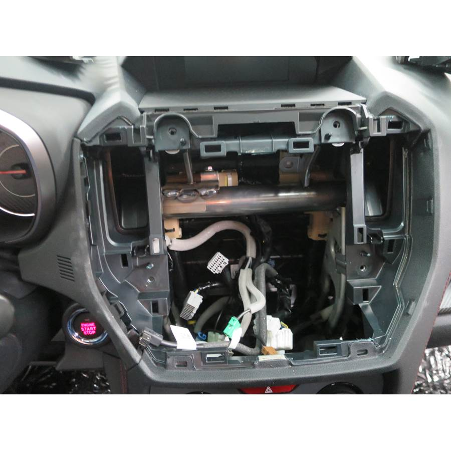 2018 Subaru Impreza Factory radio removed