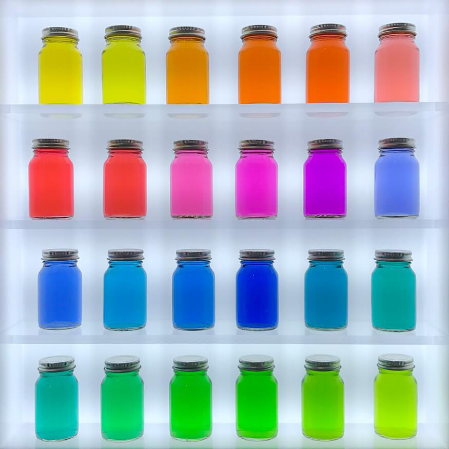 Colored jars