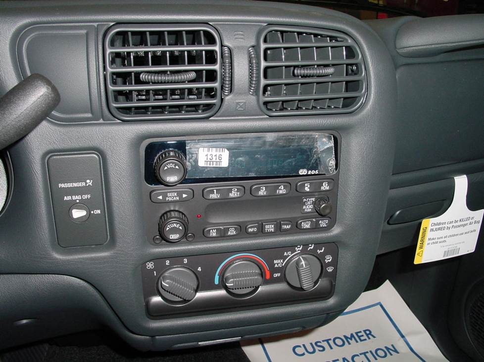 chevy s-10 blazer radio jimmy bravada
