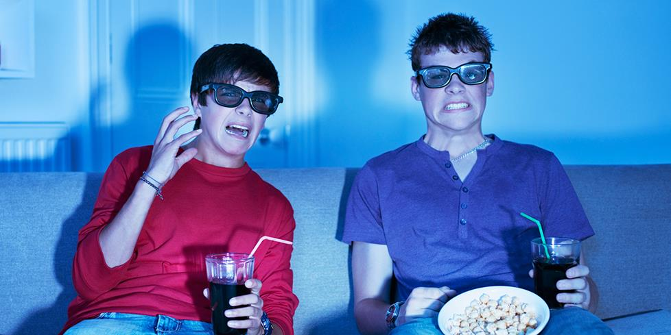 Teens watching 3D