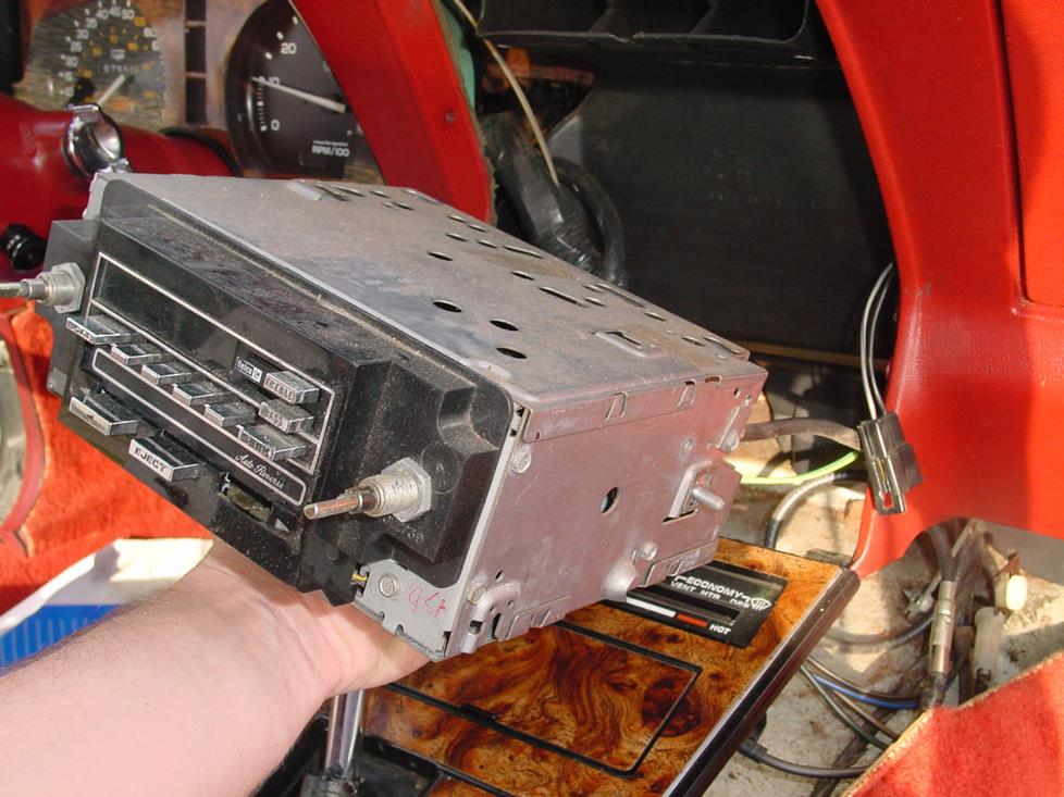 chevy C3 corvette factory radio removal