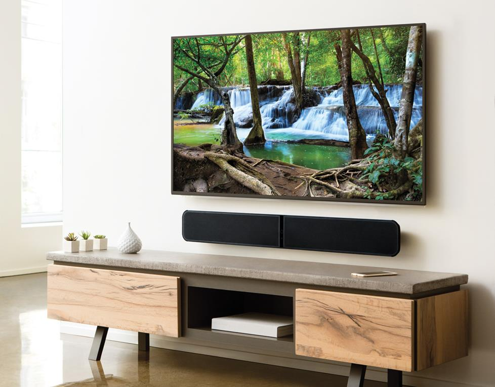 Bluesound Pulse Soundbar in living room