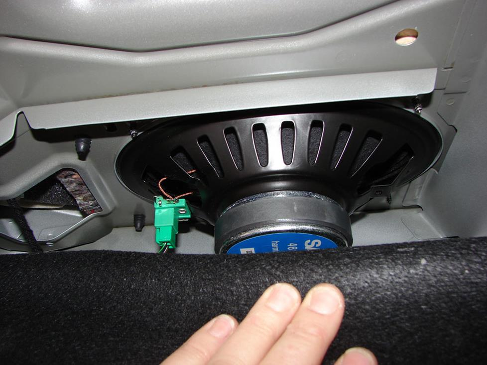saab 9-5 rear deck subwoofers